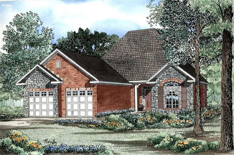 2-Bedroom, 1387 Sq Ft Country Home Plan - 153-1475 - Main Exterior
