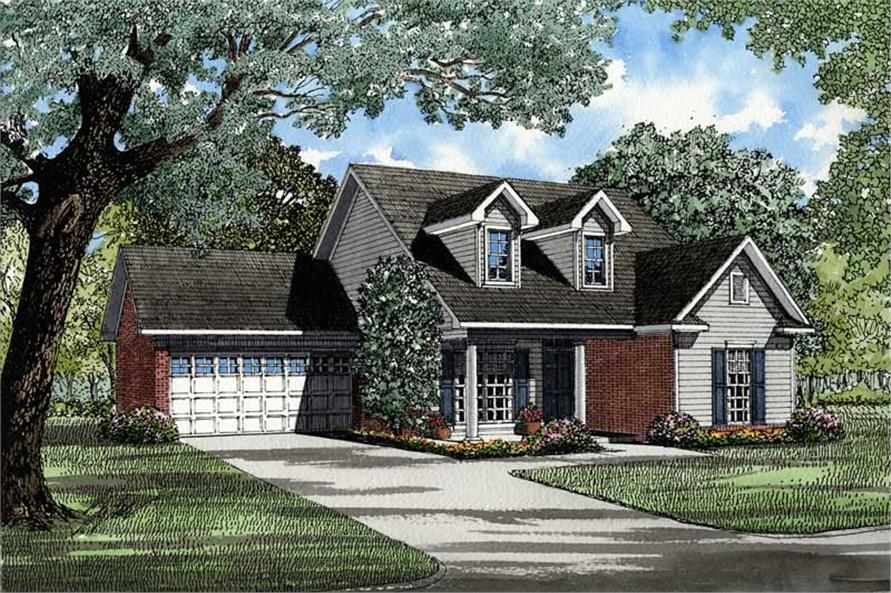 3-Bedroom, 1425 Sq Ft Country Home Plan - 153-1484 - Main Exterior