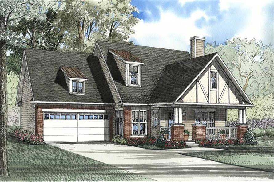 3-Bedroom, 1906 Sq Ft Craftsman Home Plan - 153-1486 - Main Exterior