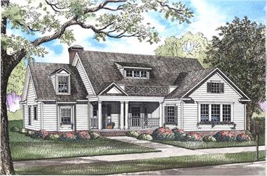 4-Bedroom, 2514 Sq Ft Craftsman Home Plan - 153-1487 - Main Exterior