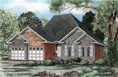 3-Bedroom, 1472 Sq Ft Country Home Plan - 153-1489 - Main Exterior