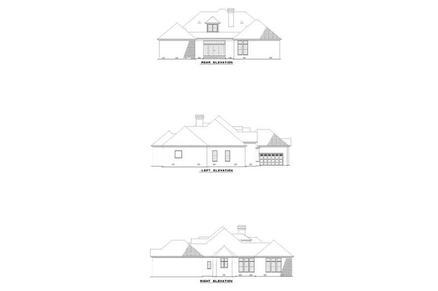 EXTERIOR ELEVATIONS of this 4-Bedroom,3568 Sq Ft Plan -3568