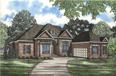 4-Bedroom, 3568 Sq Ft Country House Plan - 153-1491 - Front Exterior