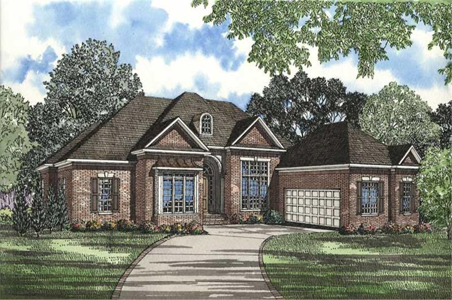 French country in law suite house plan home plan 153 1491 for Home plans in law suite