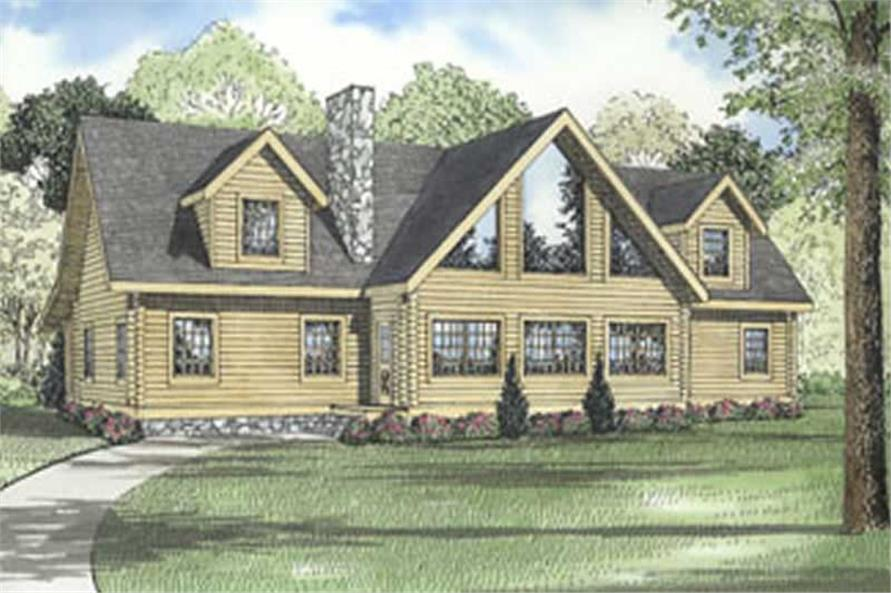 Colored main image for house plan # 5125