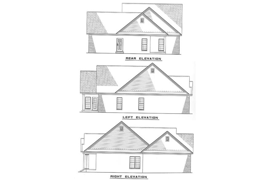 Other Elevations of this 3-Bedroom,1317 Sq Ft Plan -1317