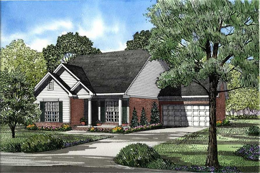 3-Bedroom, 1317 Sq Ft Southern Home Plan - 153-1494 - Main Exterior