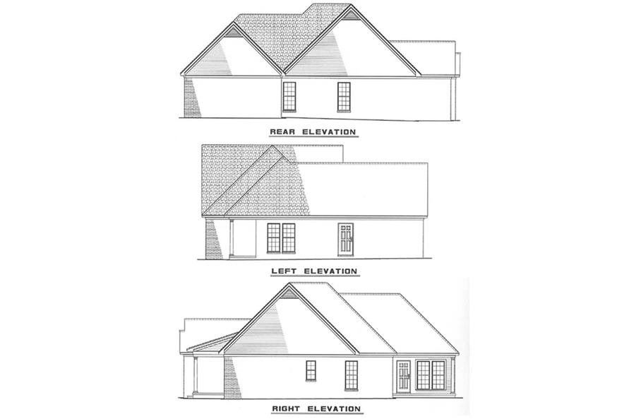 Other Elevations of this 3-Bedroom,1289 Sq Ft Plan -1289