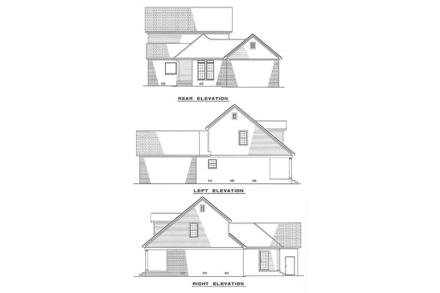 Other Elevations of this 3-Bedroom,1541 Sq Ft Plan -1541