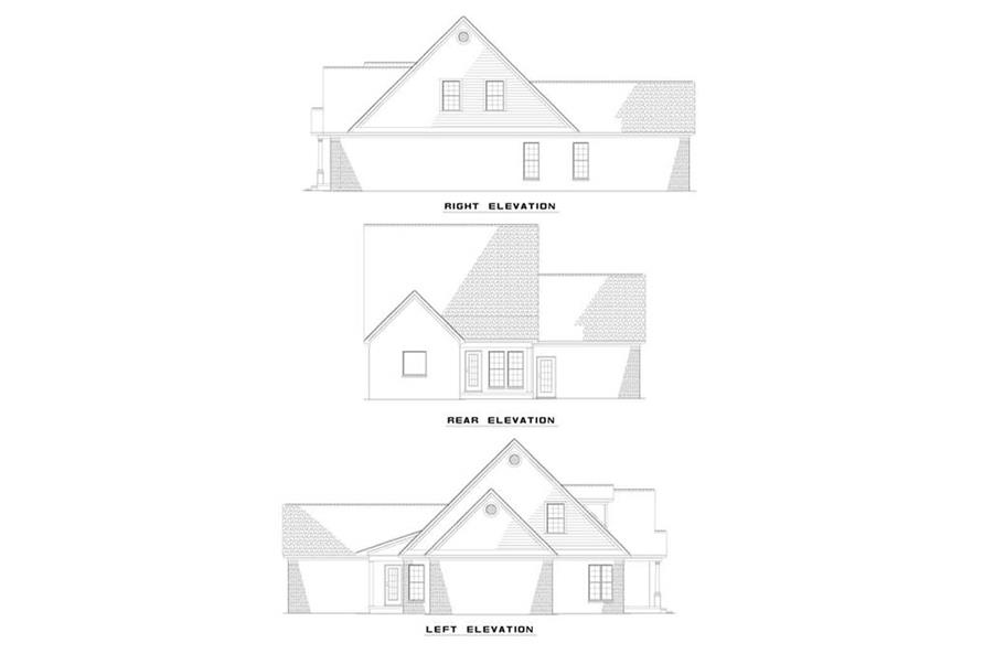 EXTERIOR ELEVATIONS of this 3-Bedroom,1771 Sq Ft Plan -1771