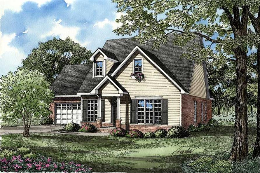 3-Bedroom, 1771 Sq Ft Southern House Plan - 153-1497 - Front Exterior