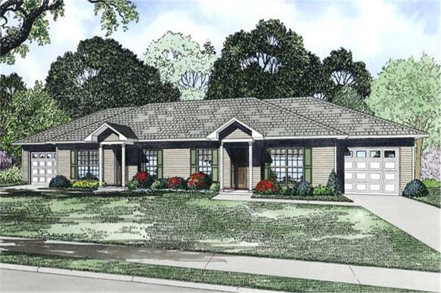 Home Plan Rendering of this 2-Bedroom,1704 Sq Ft Plan -153-1498