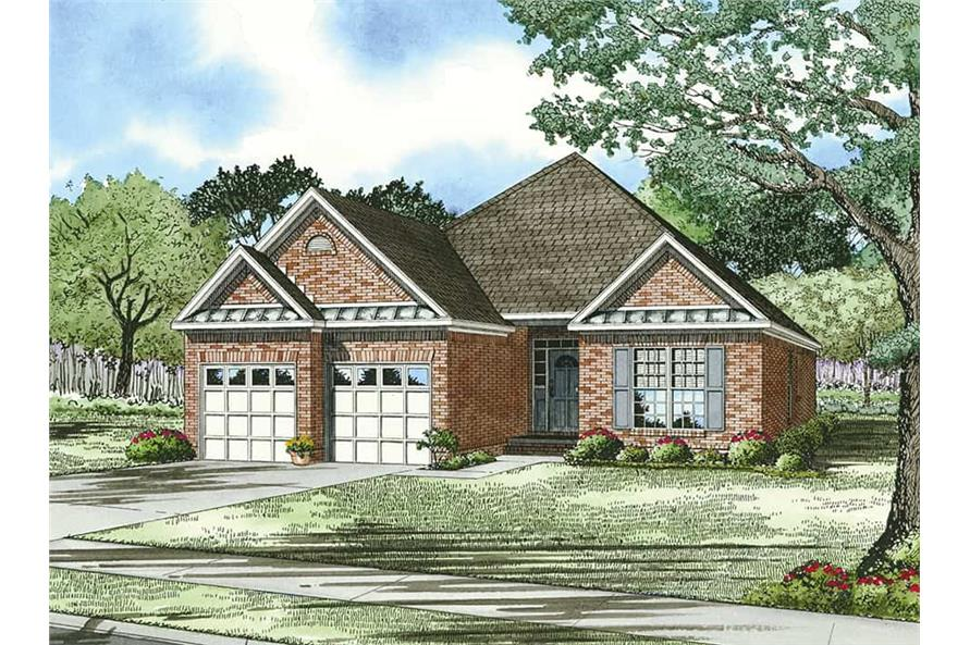 Front View of this 3-Bedroom,1480 Sq Ft Plan -1480