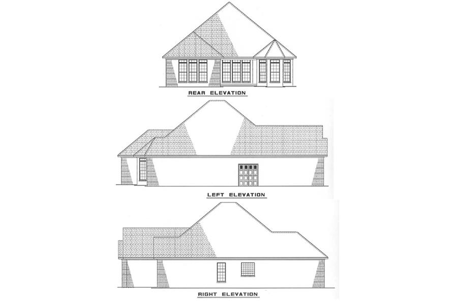 Other Elevations of this 3-Bedroom,1480 Sq Ft Plan -1480