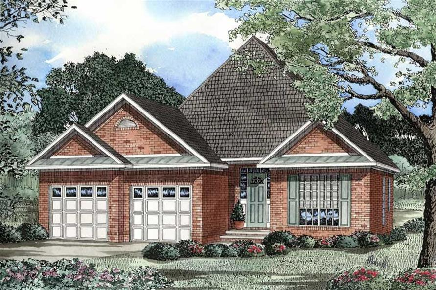 3-Bedroom, 1480 Sq Ft Country Home Plan - 153-1499 - Main Exterior