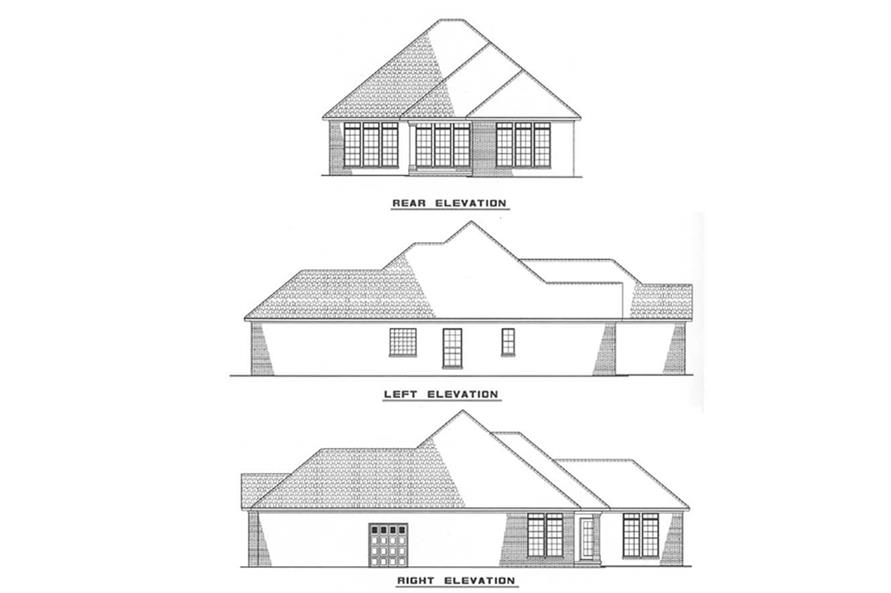 Other Elevations of this 3-Bedroom,1379 Sq Ft Plan -1379