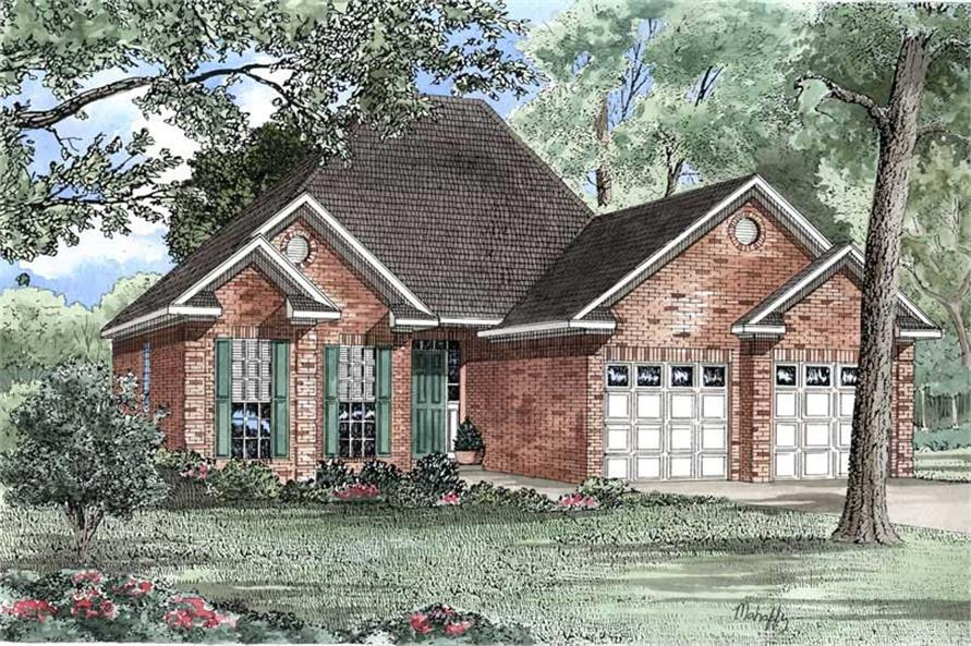 2-Bedroom, 1287 Sq Ft Country Home Plan - 153-1501 - Main Exterior
