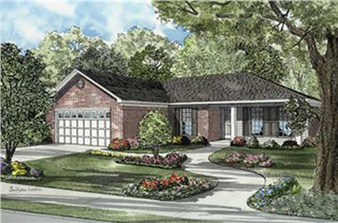3-Bedroom, 1193 Sq Ft Ranch Home Plan - 153-1502 - Main Exterior