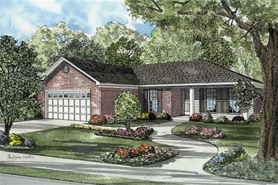 3-Bedroom, 1193 Sq Ft Ranch Home Plan - 153-1502 - Main Exterior