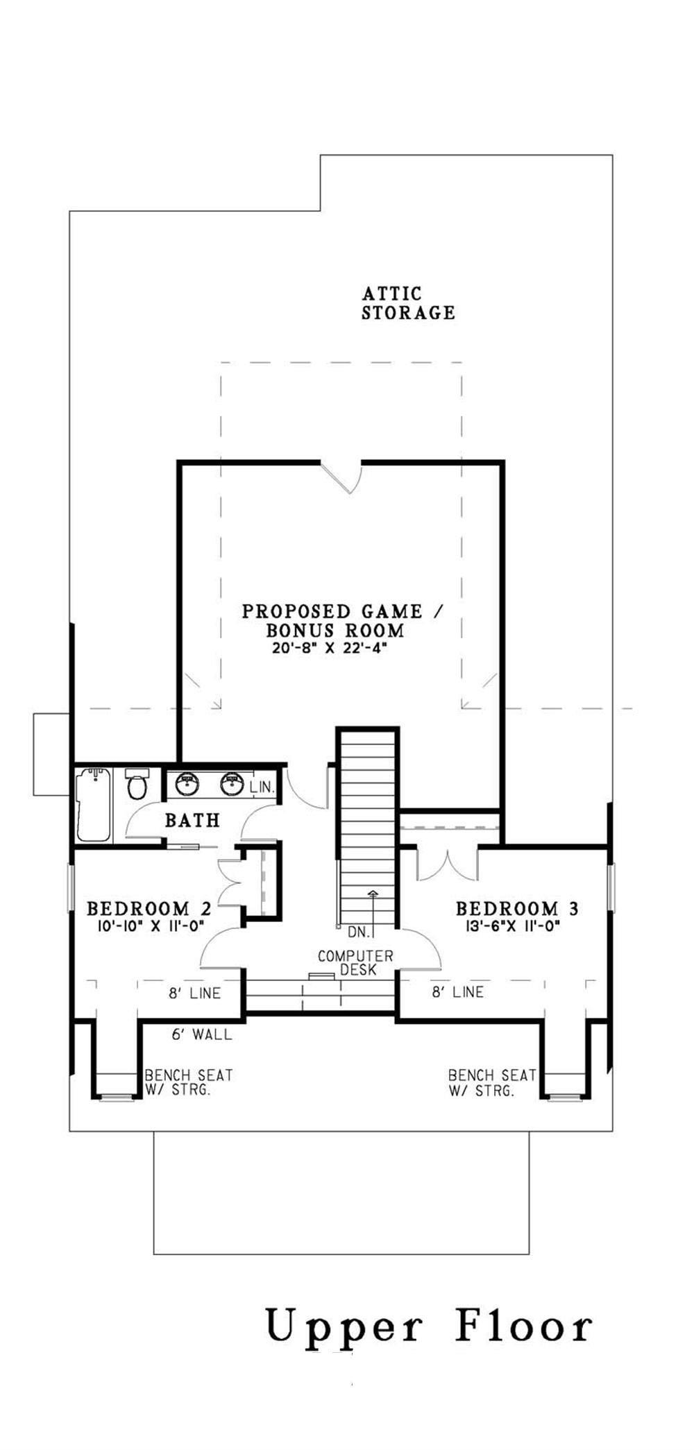 Large Images For House Plan 153 1503