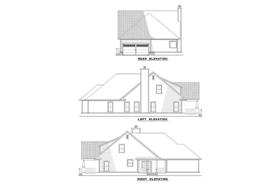 EXTERIOR ELEVATIONS of this 3-Bedroom,2237 Sq Ft Plan -2237