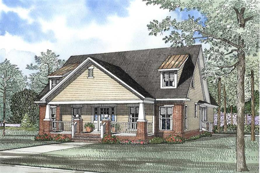 3-Bedroom, 2237 Sq Ft Craftsman Home Plan - 153-1503 - Main Exterior