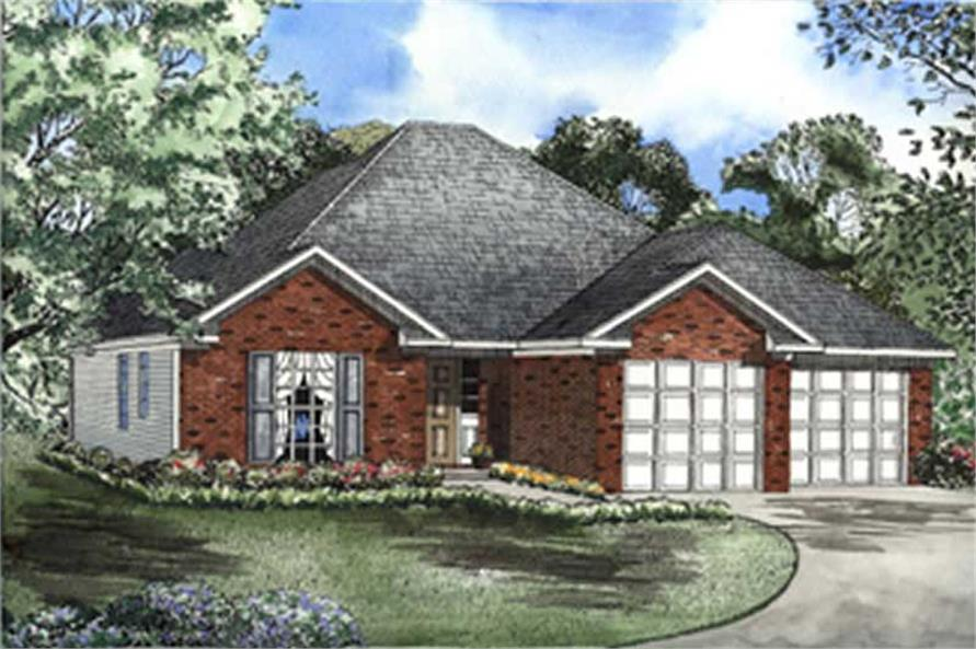 1-Bedroom, 1435 Sq Ft European Home Plan - 153-1504 - Main Exterior