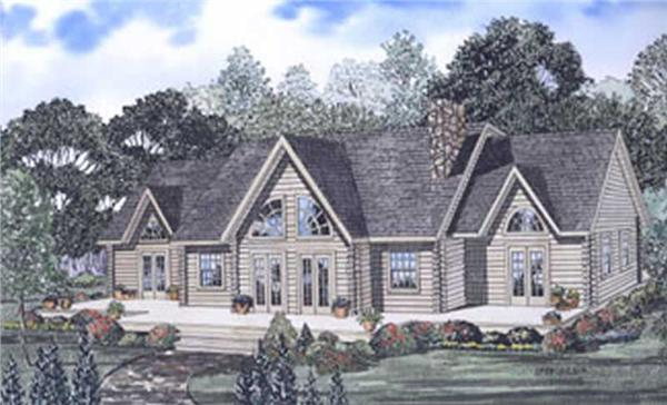 This image shows the Log Cabins style for this set of house plans.