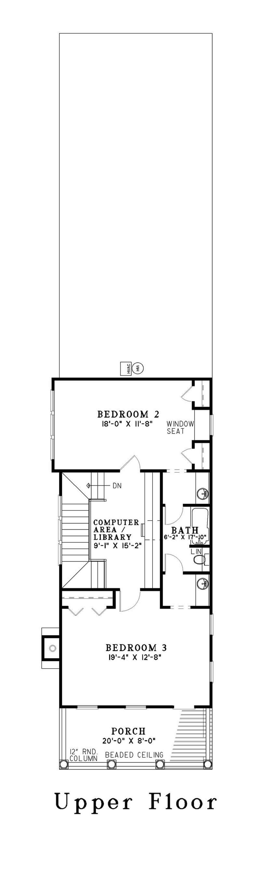 Georgian house plan 3 bedrms 2 5 baths 2177 sq ft for Second story floor plan