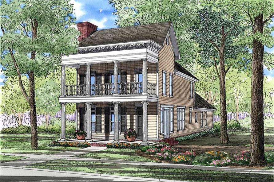 3-Bedroom, 2177 Sq Ft Georgian House Plan - 153-1507 - Front Exterior