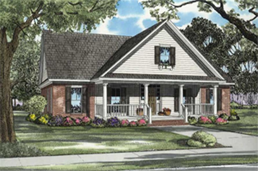 3-Bedroom, 2290 Sq Ft Country Home Plan - 153-1508 - Main Exterior