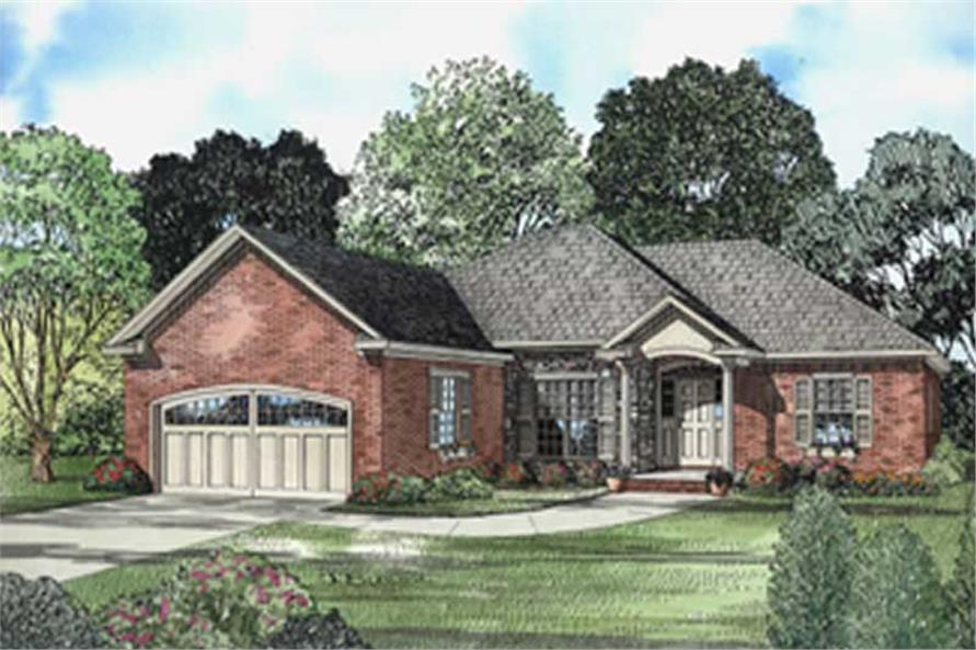3-Bedroom, 1708 Sq Ft European Home Plan - 153-1509 - Main Exterior