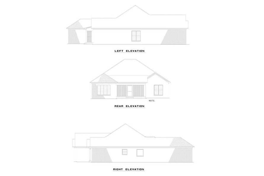 EXTERIOR ELEVATIONS of this 3-Bedroom,1855 Sq Ft Plan -1855