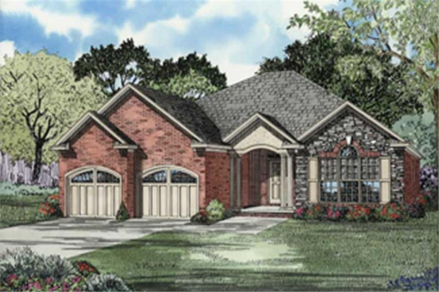 3-Bedroom, 1855 Sq Ft Contemporary Home Plan - 153-1511 - Main Exterior