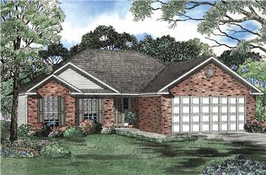 2-Bedroom, 1304 Sq Ft European Home Plan - 153-1513 - Main Exterior