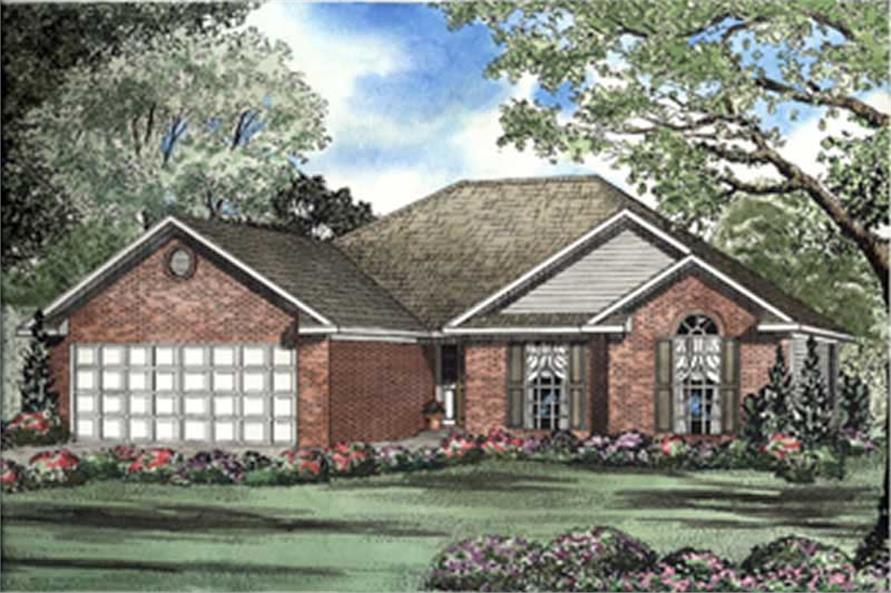 3-Bedroom, 1483 Sq Ft European Home Plan - 153-1514 - Main Exterior