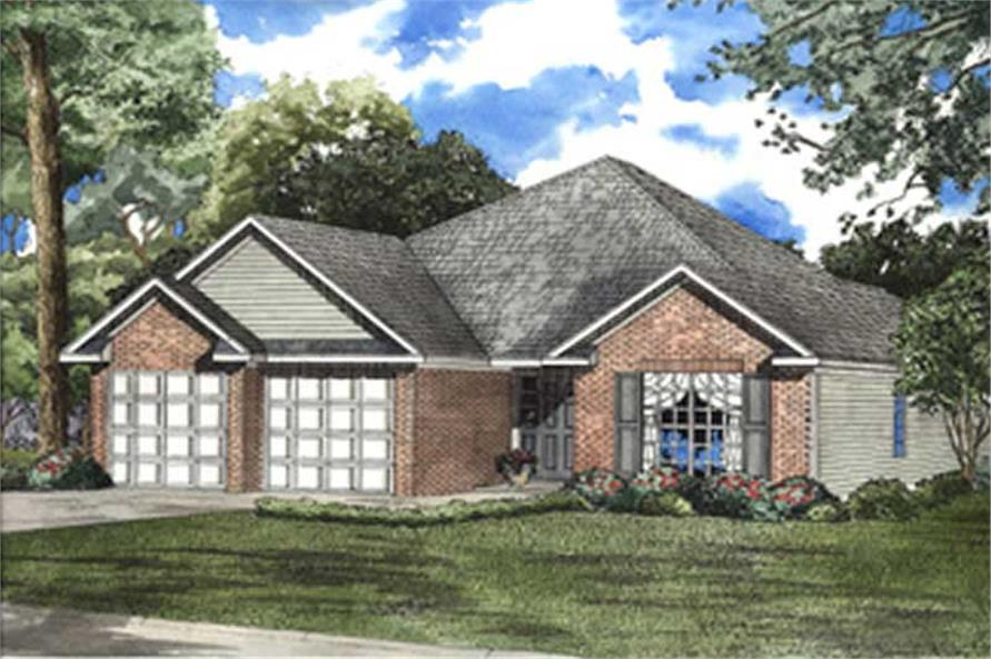 3-Bedroom, 1489 Sq Ft Country Home Plan - 153-1515 - Main Exterior