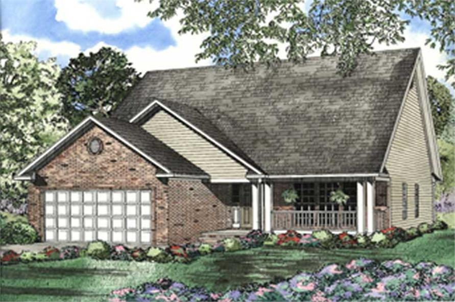2-Bedroom, 1774 Sq Ft Country Home Plan - 153-1516 - Main Exterior