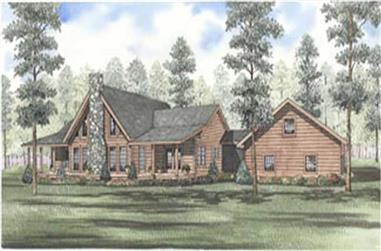 Main elevation image for houseplan # 5123