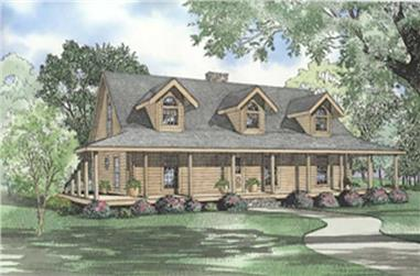 Colorful main image for log house plan # 5119