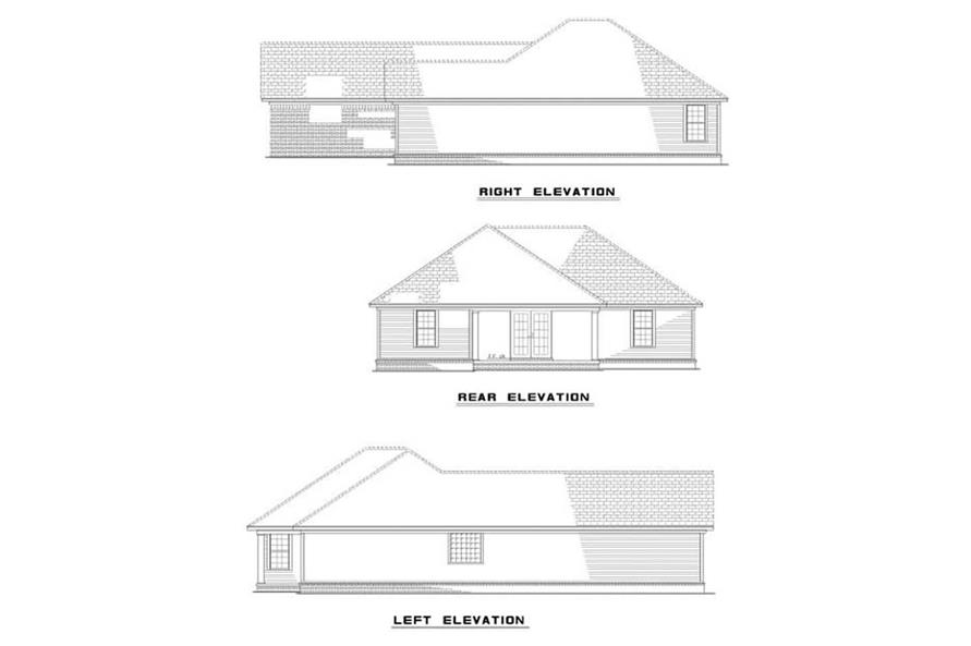 EXTERIOR ELEVATIONS of this 2-Bedroom,1403 Sq Ft Plan -1403