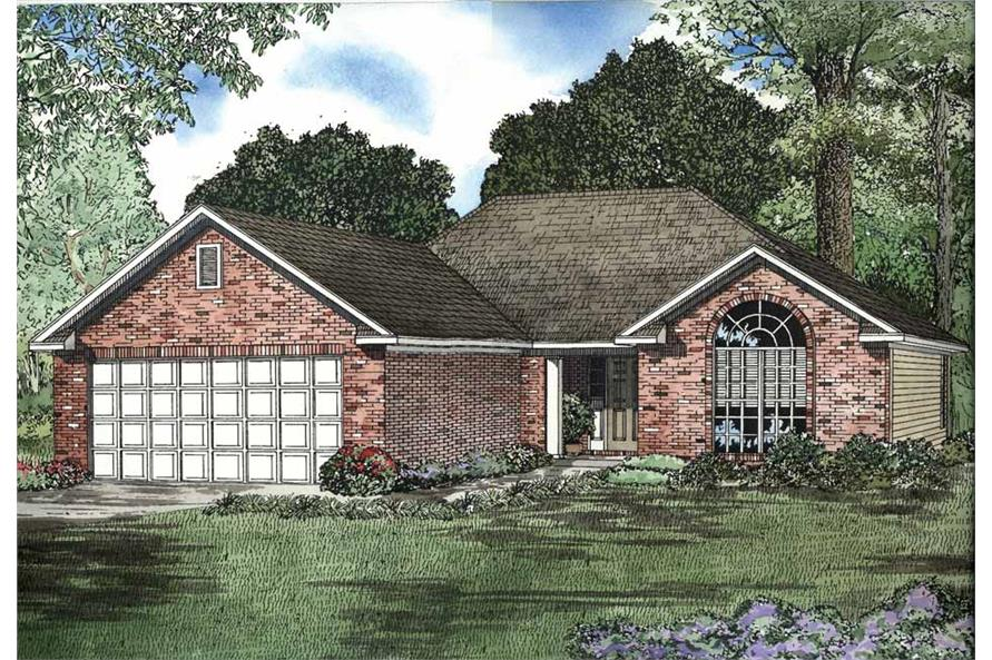 2-Bedroom, 1403 Sq Ft European Home Plan - 153-1523 - Main Exterior