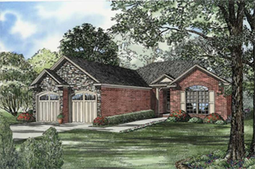 2-Bedroom, 1422 Sq Ft European House Plan - 153-1528 - Front Exterior