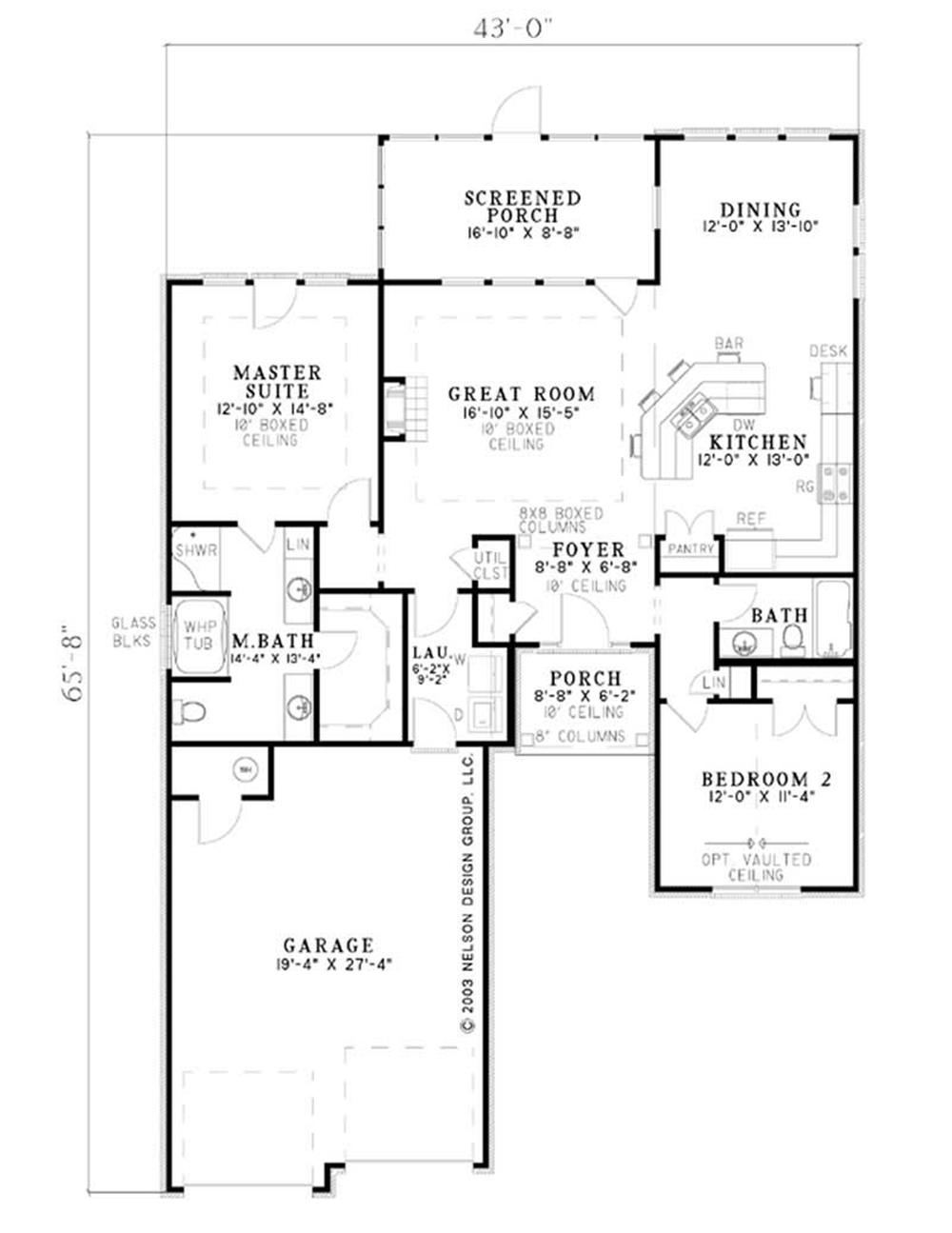 Large Images For House Plan 153 1528