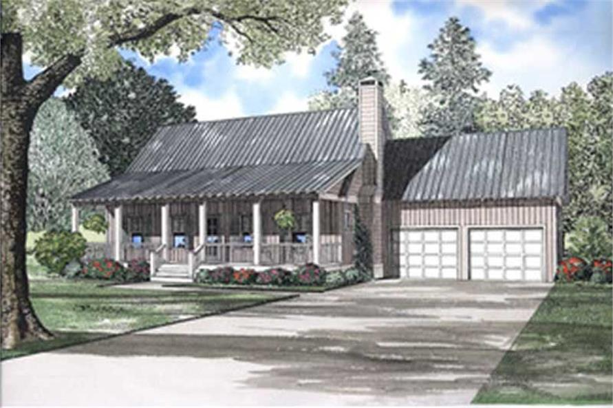 2-Bedroom, 1903 Sq Ft Farmhouse House Plan - 153-1529 - Front Exterior
