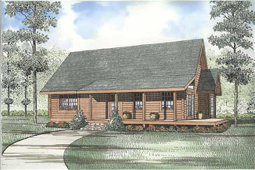 Main image for cabin house plans # 5102