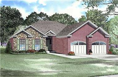 2-Bedroom, 1287 Sq Ft Contemporary Home Plan - 153-1534 - Main Exterior