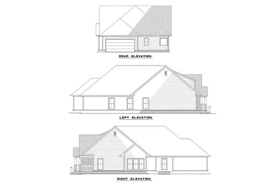 EXTERIOR ELEVATIONS of this 3-Bedroom,1933 Sq Ft Plan -1933