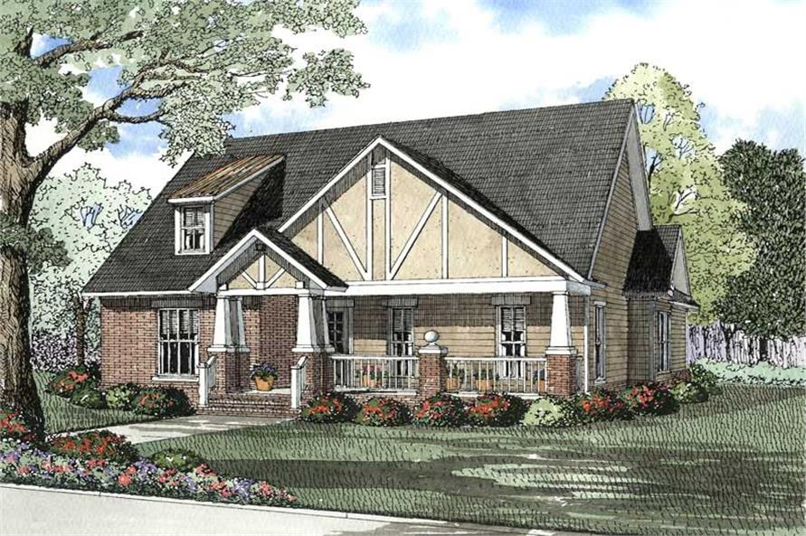 Home Plan Rendering of this 3-Bedroom,1933 Sq Ft Plan -153-1535