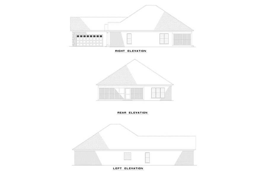 EXTERIOR ELEVATIONS of this 3-Bedroom,1806 Sq Ft Plan -1806
